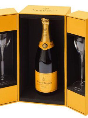 Veuve de Clicquot Brut Champagne Giftbox met 2 glazen